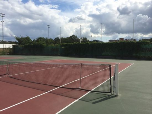 Inlägget handlar om idrottspsykologi och inställningen till träning och därför passar det bra att inkludera en bild på en tennisbana