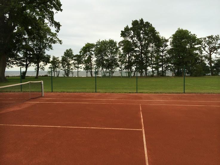 Blogginlägget handlar om mental träning och mer specifikt om visualisering inom idrotten och då passar det bra med en bild på en tennisbana